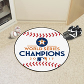 "Houston Astros 2017 World Series Champions Baseball Mat 26"" diameter"