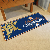 "Houston Astros 2017 World Series Champions Baseball Runner Mat 30""x72"""