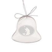 Fly fish Bell Shaped Crystal Christmas Ornament