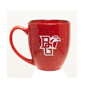 Bowling Green State Falcons Deep Etched 15 oz. Red Bistro Mug