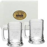 Bowling Green State Falcon Deep Etched 15 oz. Tankard Set of 2