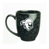 Seton Hall Deep Etched 15 oz. Black Bistro Mug