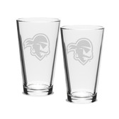 Seton Hall Deep Etched 16 oz. Pub Glass Set of 2