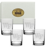 Wake Forest Demon Deacons Deep Etched 14 oz. Wine Glass Set of 4