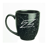 Akron Zips Deep Etched 15 oz. Black Bistro Mug