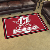 Alabama Crimson Tide  2017 Football National Champions 5'x8' Rug