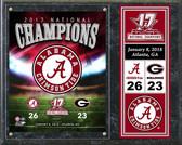 Alabama Crimson Tide 2017 National Champions Team Logo Plaque