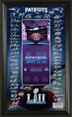 New England Patriots Super Bowl 52 Signature Ticket