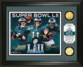 Philadelphia Eagles Super Bowl 52 Team Force Bronze Coin Photo Mint