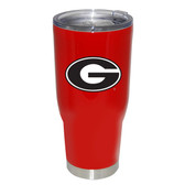 Georgia Bulldogs 32oz Decal Powder Coated Stainless Steel Tumbler
