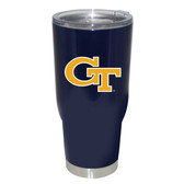 Georgia Tech Yellow Jackets 32oz Decal Powder Coated Stainless Steel Tumbler