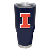 Illinois Fighting Illini 32oz Decal Powder Coated Stainless Steel Tumbler