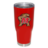 Maryland Terrapins 32oz Decal Powder Coated Stainless Steel Tumbler