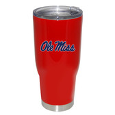 Ole Miss Rebels 32oz Decal Powder Coated Stainless Steel Tumbler