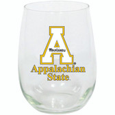 Appalachian State Mountaineers 15oz Decorated Stemless Wine Glass