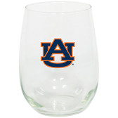 Auburn Tigers 15oz Decorated Stemless Wine Glass
