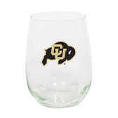 Colorado Buffaloes 15oz Decorated Stemless Wine Glass