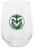 Colorado State Rams 15oz Decorated Stemless Wine Glass