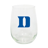 Duke Blue Devils 15oz Decorated Stemless Wine Glass