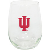 Indiana Hoosiers 15oz Decorated Stemless Wine Glass