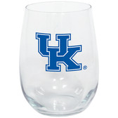 Kentucky Wildcats 15oz Decorated Stemless Wine Glass