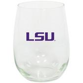 LSU Tigers 15oz Decorated Stemless Wine Glass