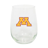 Minnesota Golden Gopher 15oz Decorated Stemless Wine Glass