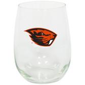 Oregon State Beavers 15oz Decorated Stemless Wine Glass