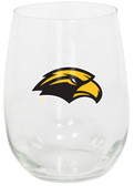 Southern Mississippi 15oz Decorated Stemless Wine Glass