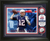 Tom Brady 2017 NFL MVP Silver Coin Photo Mint