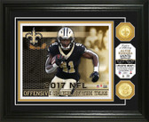 Alvin Kamara 2017 NFL Offensive Rookie of the Year Bronze Coin Photo Mint