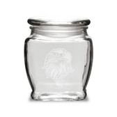 Eagles Head Deep Etched  16 oz Apothecary Jar with Lid