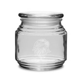 Eagles Head Deep Etched  16 oz Patio Jar with Lid