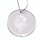 Eagles Head Deep Etched  Round Holiday Ornament