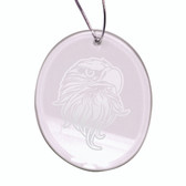 Eagles Head Deep Etched  Oval Holiday Ornament