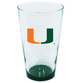 Miami Hurricanes 16oz Highlight Pint Glass
