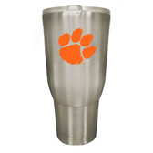 Clemson Tigers 32oz Stainless Steel Decal Tumbler