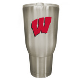 Wisconsin Badgers 32oz Stainless Steel Decal Tumbler