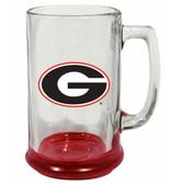 Georgia Bulldogs 15 oz Highlight Decal Glass Stein
