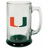 Miami Hurricanes 15 oz Highlight Decal Glass Stein