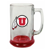 Utah Utes 15 oz Highlight Decal Glass Stein