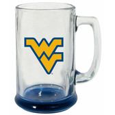 West Virginia Mountaineers 15 oz Highlight Decal Glass Stein