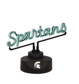 Michigan State Spartans Script Neon Light