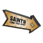 New Orleans Saints Sign Marquee Style Light Up Arrow Design