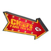 Kansas City Chiefs Sign Marquee Style Light Up Arrow Design
