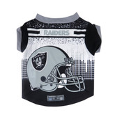 Oakland Raiders Pet Performance Tee Shirt Size L