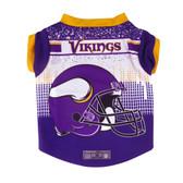 Minnesota Vikings Pet Performance Tee Shirt Size L