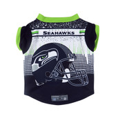 Seattle Seahawks Pet Performance Tee Shirt Size M