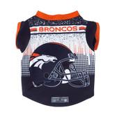 Denver Broncos Pet Performance Tee Shirt Size L
