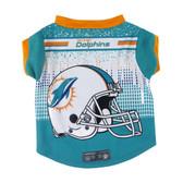 Miami Dolphins Pet Performance Tee Shirt Size M